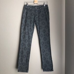 KELLY COLE Jeans with Cross Print - NWOT